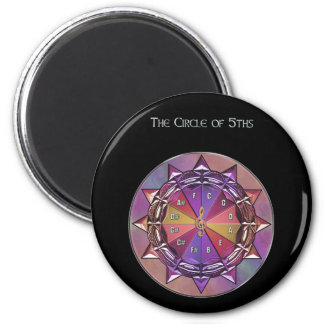Music Theory Circle of Fifths Mandala 2 Inch Round Magnet