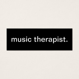 Music Therapist Business Card