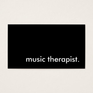 music therapist. business card