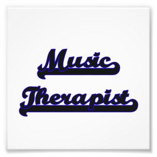 Music Therapist Classic Job Design Photo Print