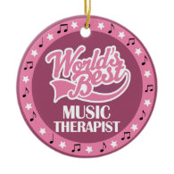Music Therapist Gift For Her Ornaments