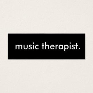 music therapist. mini business card
