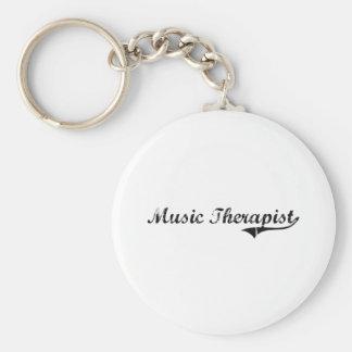Music Therapist Professional Job Keychain