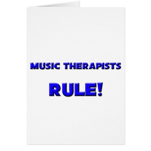 Music Therapists Rule! Greeting Card
