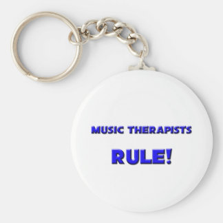 Music Therapists Rule! Key Chains