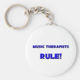 Music Therapists Rule! Keychain