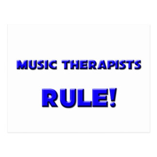 Music Therapists Rule! Postcard