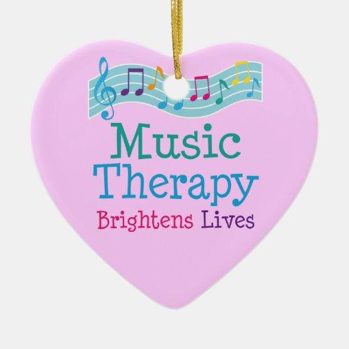 Music Therapy Brightens Lives Ceramic Ornament