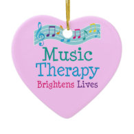 Music Therapy Brightens Lives Ornament