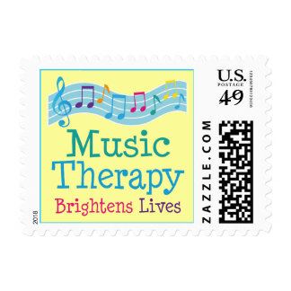 Music Therapy Brightens Lives Postage Stamp