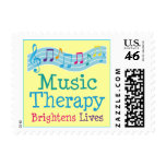 Music Therapy Brightens Lives Postage Stamps