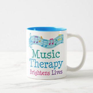 Music Therapy Brightens Lives Two-Tone Coffee Mug