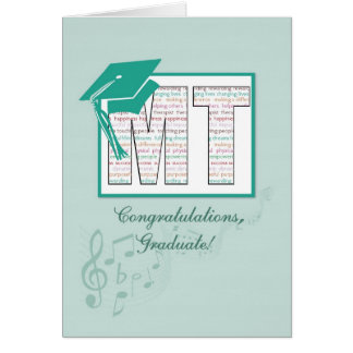 Music Therapy Graduation Congratulations, MT Hat Card