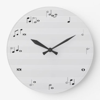 Music time clock - grey