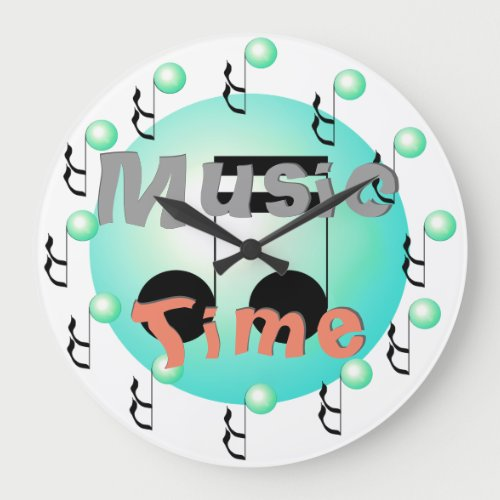 Music Time Musical Musicians DJs Bands Orchestra Large Clock
