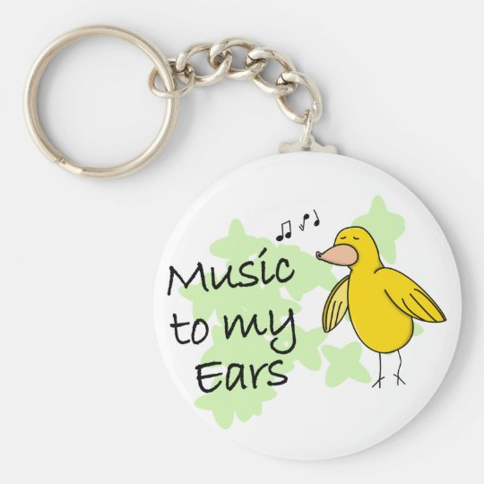 Music to My Ears Keychain