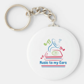 Music To My Ears Basic Round Button Keychain