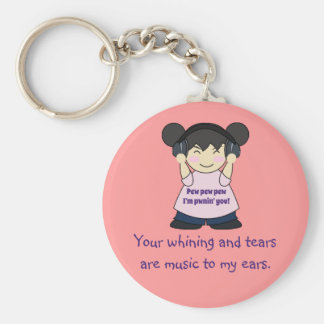 Music To My Ears Snarky Online Gamer Key Chain