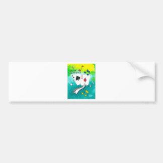 Music to my eyes bumper sticker