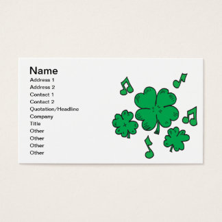 Music To My Irish Ears Business Card