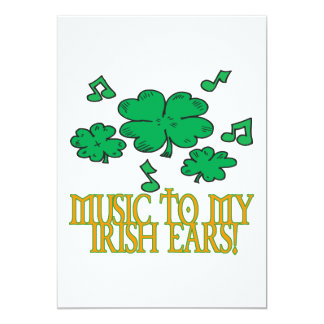 Music To My Irish Ears Card