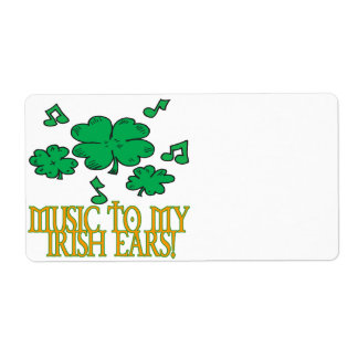 Music To My Irish Ears Label