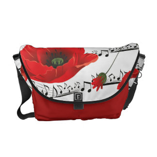 Music to my Poppy Bag Messenger Bags