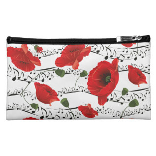 Music To My Poppy Cosmetics Bag at Zazzle