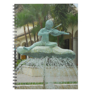 Music to the ears fountain on notebook