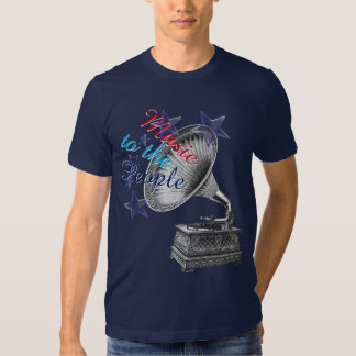 Music to the People Antique Record Player Tee Shirt