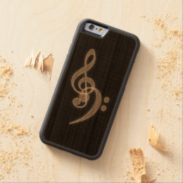 Music - Treble and Bass Clef Carved Cherry iPhone 6 Bumper Case