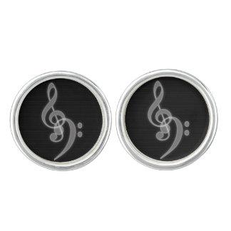Music - Treble and Bass Clef Cufflinks