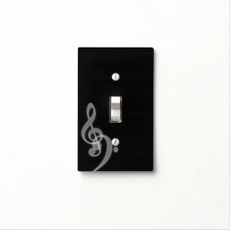 Music - Treble and Bass Clef - Light Cover Switch