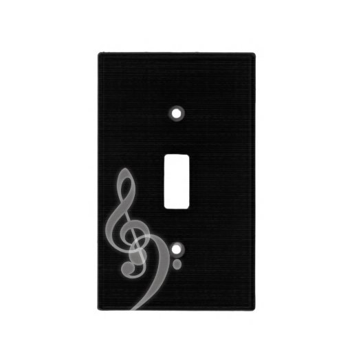 Music Treble And Bass Clef Light Cover Switch Light