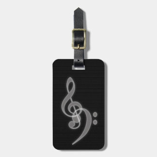 Music - Treble and Bass Clef Luggage Tag