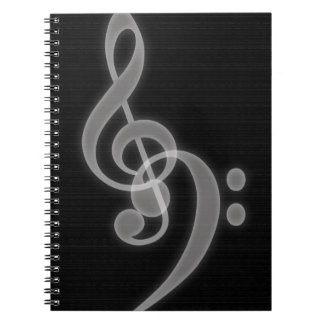 Music - Treble and Bass Clef - Notebook