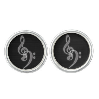 Music - Treble and Bass Clef Cufflinks
