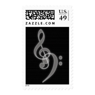 Music - Treble and Bass Clef - Postage