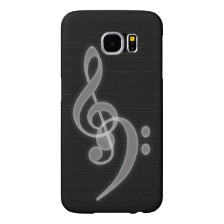 Music - Treble and Bass Clef Samsung Galaxy S6 Case
