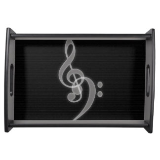 Music - Treble and Bass Clef - Serving Tray