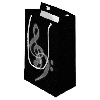 Music - Treble and Bass Clef Small Gift Bag