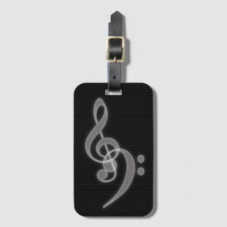 Music - Treble and Bass Clef - Tag with Slot