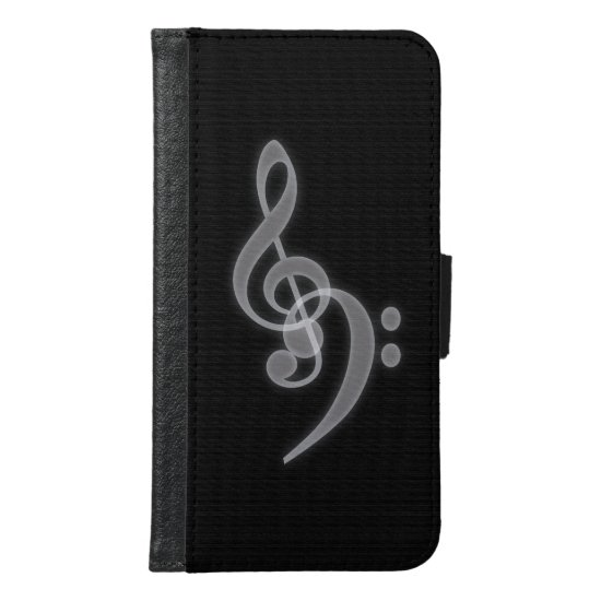 Music - Treble and Bass Clef Wallet Case