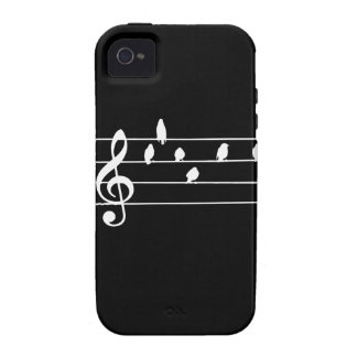 Music - Treble Clef - birds as notes iPhone 4 Covers