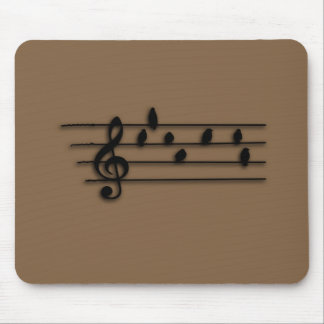 Music - Treble Clef - birds as notes Mouse Pads