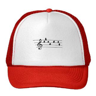 Music - Treble Clef - birds as notes Trucker Hat