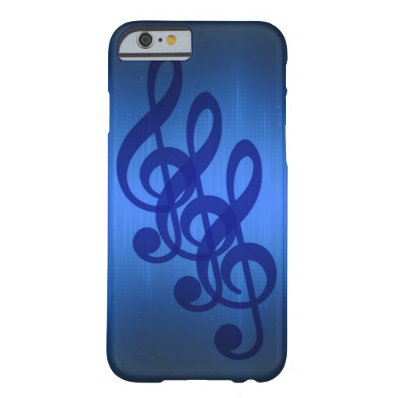 Music Treble Clef Blue Beat Barely There iPhone 6 Case