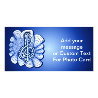 Music Treble Clef Decorative and Personalizable Card