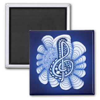 Music Treble Clef Decorative and Personalizable Magnet