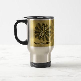 Music Treble Clef Gold Customized Coffee Mug